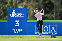 January 19, 2019 - Lake Buena Vista, FL, U.S. - LAKE BUENA VISTA, FL - JANUARY 19: Brooke M. Henderson of Canada tees off on hole 3 during the third round of the Diamond Resorts Tournament of Champions on January 19, 2019, at Tranquilo Golf Course at Fours Seasons Orlando in Lake Buena Vista, FL. (Photo by Roy K. Miller/Icon Sportswire) (Credit Image: © Roy K. Miller/Icon SMI via ZUMA Press)