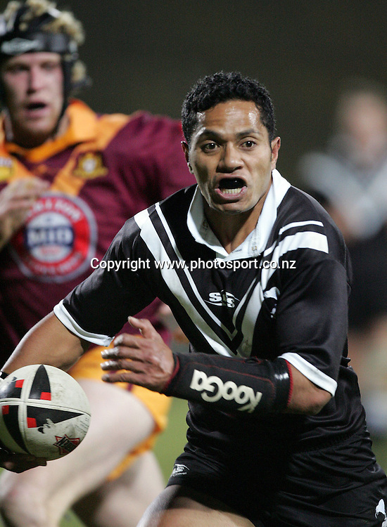 David Fisi'iahi during the Trans-Tasman Cup Rugby League final match between the NZ Residents and NSW Country at Rotorua International Stadium, Rotorua, New Zealand on Saturday 1 July, 2006. The NZ Residents won the match 38 - 18. Photo: Hannah Johnston/PHOTOSPORT<br />