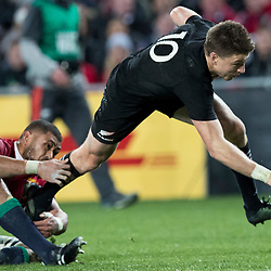 Beauden Barrett during game 7 of the British and Irish Lions 2017 Tour of New Zealand, the first Test match between  The All Blacks and British and Irish Lions, Eden Park, Auckland, Saturday 24th June 2017<br /> (Photo by Kevin Booth Steve Haag Sports)<br /> <br /> Images for social media must have consent from Steve Haag