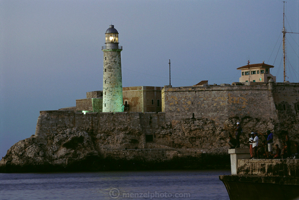El Castillo del Morro lighthouse, in the port of old Havana, Cuba.