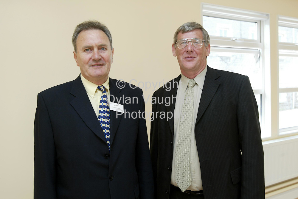 2/9/2002.Pictured at the launch of Waterford Institute of Technology's newly established Department of Nursing and Health Sciences was from left John Wickham, Principal tutor Mental Health Nursing and Ronnie Stracham Principal tutor General Nursing..Picture Dylan Vaughan