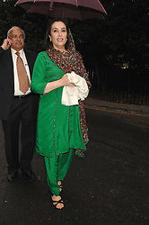 BENAZIR BHUTO former PM of Pakistan at the annual Sir David & Lady Carina Frost Summer Party in Carlyle Square, London SW3 on 5th July 2007.<br /><br />NON EXCLUSIVE - WORLD RIGHTS