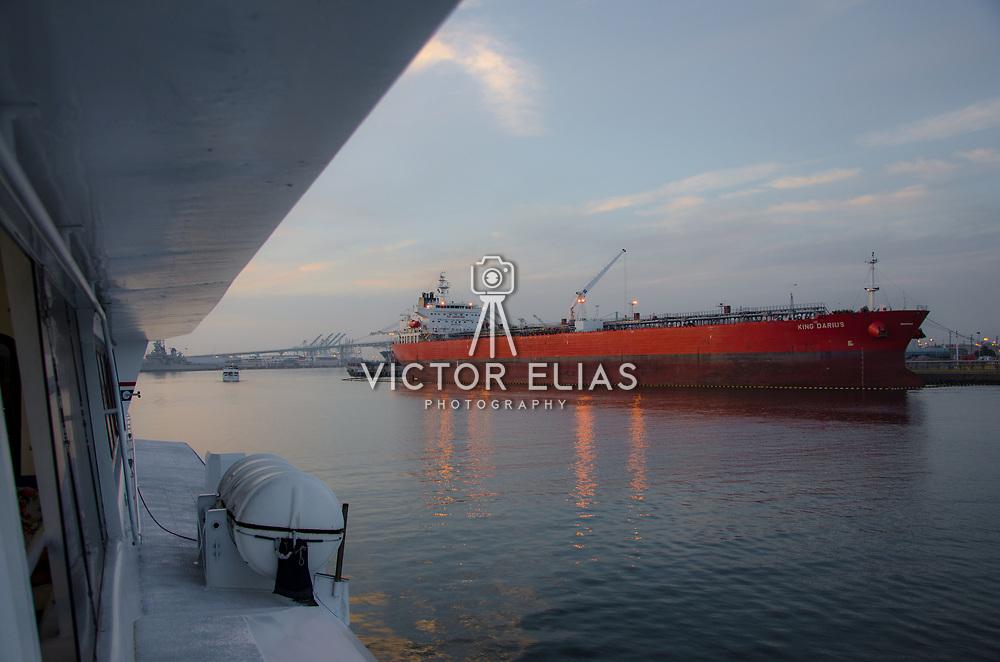 Shipyard and cargo cranes. San Pedro, California.
