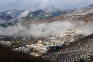 France, Languedoc Roussillon, Gard, Cevennes, la vallée du Rieutord en hiver