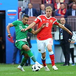 June 14, 2018 - Moscow, Russia - 14 June 2018, Russia, Moscow, FIFA World Cup, First Round, Group A, First Matchday, Russia vs Saudi Arabia at the Luzhniki Stadium. Player Yuri Gazinsky  (Credit Image: © Russian Look via ZUMA Wire)