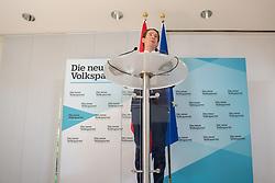 20.05.2019, Politische Akademie, Wien, AUT, OeVP, Presserklaerung von Sebastian Kurz, im Bild Sebastian Kurz (OeVP)// during media conference with Sebastian Kurz the peoples party at the Politische Akademie in Wien, Austria on 2019/05/20. EXPA Pictures © 2019, PhotoCredit: EXPA/ Florian Schroetter
