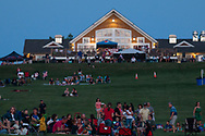 Hamptonburgh, New York - People wait to watch the 2017 Freedom Fest fireworks show at Thomas Bull Memorial Park on July 15, 2017. The event featured music followed by fireworks.