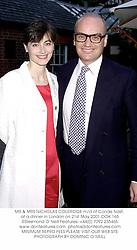 MR & MRS NICHOLAS COLERIDGE m/d of Conde Nast, at a dinner in London on 21st May 2001.OOK 165