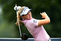July 14, 2018 - Sylvania, Ohio, United States - Brooke Henderson of Canada tees off on the third tee. during the third round of the Marathon LPGA Classic golf tournament at Highland Meadows Golf Club in Sylvania, Ohio USA, on Saturday, July 14, 2018. (Credit Image: © Jorge Lemus/NurPhoto via ZUMA Press)