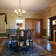 CREAM RIDGE, NJ - OCTOBER 29, 2016: The first floor formal dining room with wood-burning fireplace is in between the kitchen and library. 92 Holmes Mill Rd, Cream Ridge, NJ. Credit: Albert Yee for the New York Times