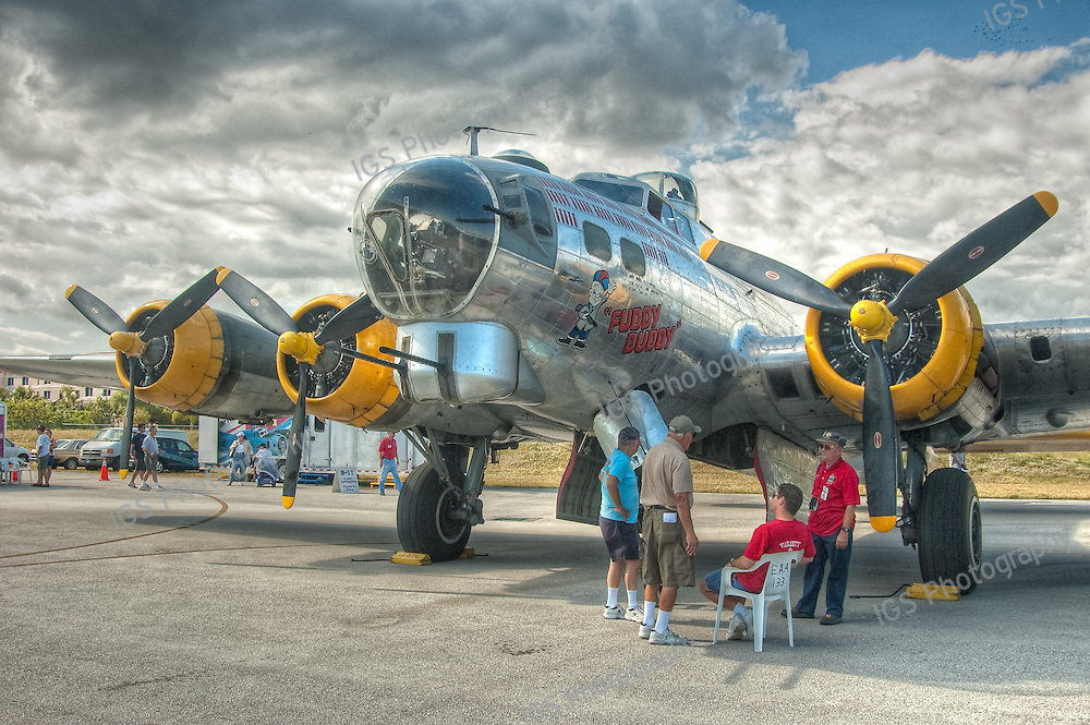 "World War 2 B17 Bomber -""Fuddy Duddy "" at Boca Raton Airport"