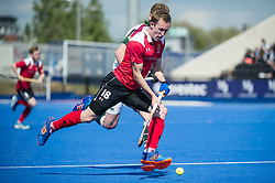 Holcombe's Barry Middleton. Holcombe v Surbiton - Semi-Final - Men's Hockey League Finals, Lee Valley Hockey & Tennis Centre, London, UK on 22 April 2017. Photo: Simon Parker