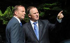 Auckland-Official welcome for Australian Prime Minister Tony Abbott