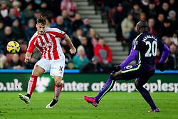 Stoke City's Marko Arnautovic plays the ball forward- Photo mandatory by-line: Matt McNulty/JMP - Mobile: 07966 386802 - 11/02/2015 - SPORT - Football - Stoke - Britannia Stadium - Stoke City v Manchester City - Barclays Premier League
