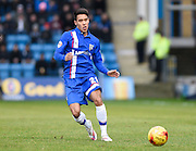 Gillingham defender Adam Chicksen in action during the Sky Bet League 1 match between Gillingham and Swindon Town at the MEMS Priestfield Stadium, Gillingham, England on 6 February 2016. Photo by David Charbit.