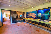 Interpretive display at the visitor center, Santa Cruz Island, Channel Islands National Park, California USA