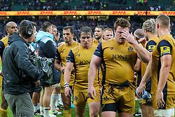 Rhodri Williams of Bristol Rugby looks dejected after a narrow 21-19 loss to Harlequins - Rogan Thomson/JMP - 03/09/2016 - RUGBY UNION - Twickenham Stadium - London, England - Harlequins v Bristol Rugby - Aviva Premiership London Double Header.