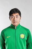 Portrait of Chinese soccer player Zhao Hejing of Beijing Sinobo Guoan F.C. for the 2017 Chinese Football Association Super League, in Benahavis, Marbella, Spain, 18 February 2017.