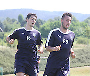 Julen Etxabeguren and Dylan Carrerio during Dundee pre-season training at GLOBALL Football Park, Budapest, Hungary<br /> <br />  - &copy; David Young - www.davidyoungphoto.co.uk - email: davidyoungphoto@gmail.com