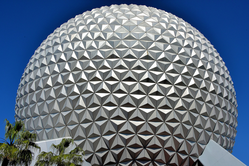 Spaceship Earth Close Up at Epcot in Orlando, Florida<br />