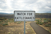 Watch for Rattlesnakes sign