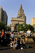 New York , Washington square, park garden  - United States
