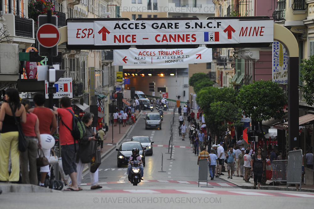 General view of a street in Monaco, Monte Carlo.
