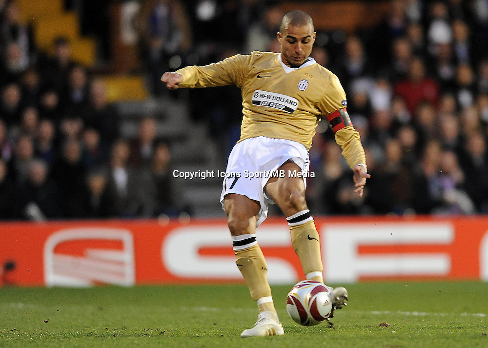 But David TREZEGUET - 18.03.2010 - Fulham / Juventus - 8eme Finale Europa League 2009/2010 - Fulham - Londres - Photo : Aldo Liverani / Icon Sport *** Local Caption ***