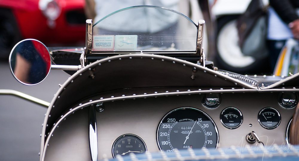 A 1935 Bugatti Type 57S driven by Jim Hull at the Rolex Monterey Motorsports Reunion during Monterey Car Week