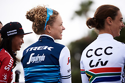 Tayler Wiles (USA) at Amgen Tour of California Women's Race empowered with SRAM 2019 - Team Presentation in Ventura, United States on May 15, 2019. Photo by Sean Robinson/velofocus.com