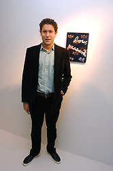 VITO SCHNABEL son of Julian Schnabel at an exhibition of paintings by artist Rene Richard at the Scream Gallery, Bruton Street, London on 3rd April 2008.<br />