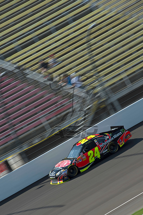 Brooklyn, MI - JUN 15, 2012: Jeff Gordon driving during a practice session for the Quicken Loans 400, at Michigan International Speedway, Brooklyn, MI.