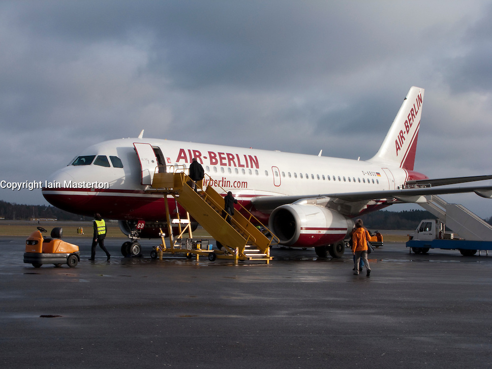 Air Berlin passenger aircraft at Gothenburg City Airport 2009