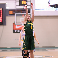 5th year forward Charlotte Kot (1) of the Regina Cougars during the Women's Basketball home game on November 25 at Centre for Kinesiology, Health and Sport. Credit: Casey Marshall/Arthur Images