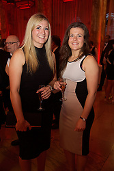 CARDIFF, WALES - Monday, October 5, 2015: Wales' Alice Evans and Hayley Ladd during the FAW Awards Dinner Dinner at Cardiff City Hall. (Pic by David Rawcliffe/Propaganda)
