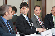 Guilherme Pimentel, Vice President, Securities<br /> Lending Business, BM&amp;FBOVAESPA, during a panel at Global Investor/ISF presents the Pan-American Securities Finance Forum held on September 26, 2013 at the Renaissance New York Hotel 57. Panel centered on the topic of  Maximising lending opportunities. The panel discussed emerging opportunities in the US and beyond. Securities lending grew rapidly across Latin America over the past decade.
