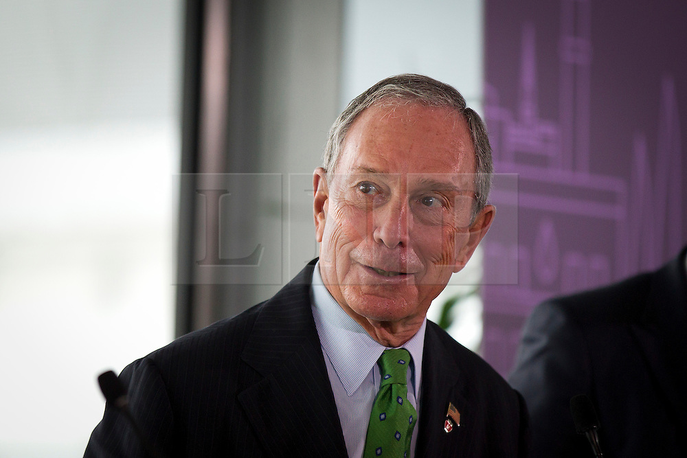 © Licensed to London News Pictures. 24/09/2013. London, UK. The Mayor of New York, Michael Bloomberg, is seen at the launch of the 2013-2014 Mayor's Challenge at City Hall in London today (24/09/2013). The competition, sponsored by Bloomberg Philanthropies, aims to aid cities to come up with bold solutions to urban challenges  Photo credit: Matt Cetti-Roberts/LNP