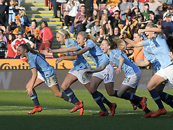 February 23, 2019 - Sheffield, England, United Kingdom - Manchester City celebrations on winning the penalty shoot out during the  FA Women's Continental League Cup Final  between Arsenal and Manchester City Women at the Bramall Lane Football Ground, Sheffield United FC Sheffield, Saturday 23rd February. (Credit Image: © Action Foto Sport/NurPhoto via ZUMA Press)