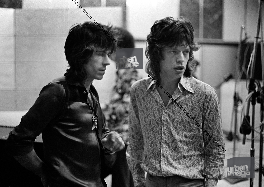 Rolling Stones at Dynamic Sounds Studios - Kingston Jamaica - 1972