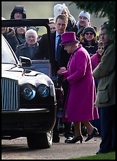 Dec 30- 2012 HM The Queen at Sandringham Church