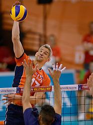 31-05-2015 NED: CEV EK Kwalificatie Nederland - Spanje, Doetinchem<br /> Nederland wint met 3-1 van Spanje en plaatst zich voor het EK in Bulgarije en Italie / Rob Bontje