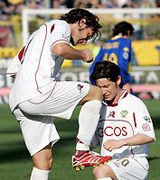 """L'esultanza di Rolando Bianchi (Reggina) dopo il gol dell'1-2 insieme a Pasquale Foggia (Reggina)<br /> Rolando Bianchi (Reggina) celebrates with Pasquale Foggia (Reggina) after scoring goal<br /> Italian """"Serie A"""" 2006-07<br /> 04 Mar 2007 (Match Day 27)<br /> Parma-Reggina (2-2)<br /> """"Ennio Tardini""""-Stadium-Parma-Italy<br /> Photographer: Luca Pagliaricci INSIDE"""