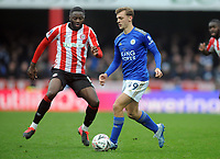 Football - 2019 / 2020 Emirates FA Cup - Fourth Round: Brentford vs. Leicester City<br /> <br /> Kiernan Dewsbury - Hall of Leicester, comes on to make his debut as a second half substitute at Griffin Park.<br /> <br /> COLORSPORT/ANDY COWIE