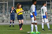 08.04.17; Zuerich; Fussball FCZ Academy - Grasshopper Club - Zuerich FE14 Oberland; <br /> Schiedsrichterin<br /> (Andy Mueller/freshfocus)