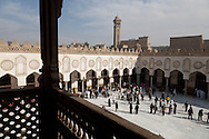 Egypt. Cairo elevated view.  - Friday prayer view from the minarets of al Azhar mosque. islamic cairo  +
