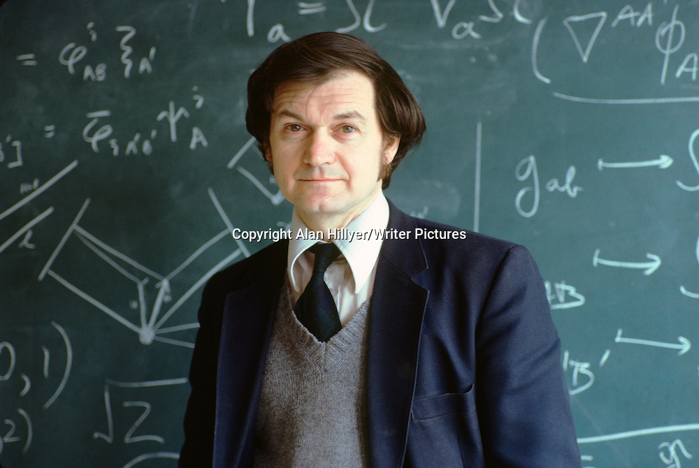 Roger Penrose, photographed at the university of Oxford. circa March 1982<br /> Picture by: Alan Hillyer/Writer Pictures<br /> <br /> WORLD RIGHTS