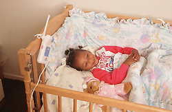 Flashing light baby alarm for people with hearing impairments,