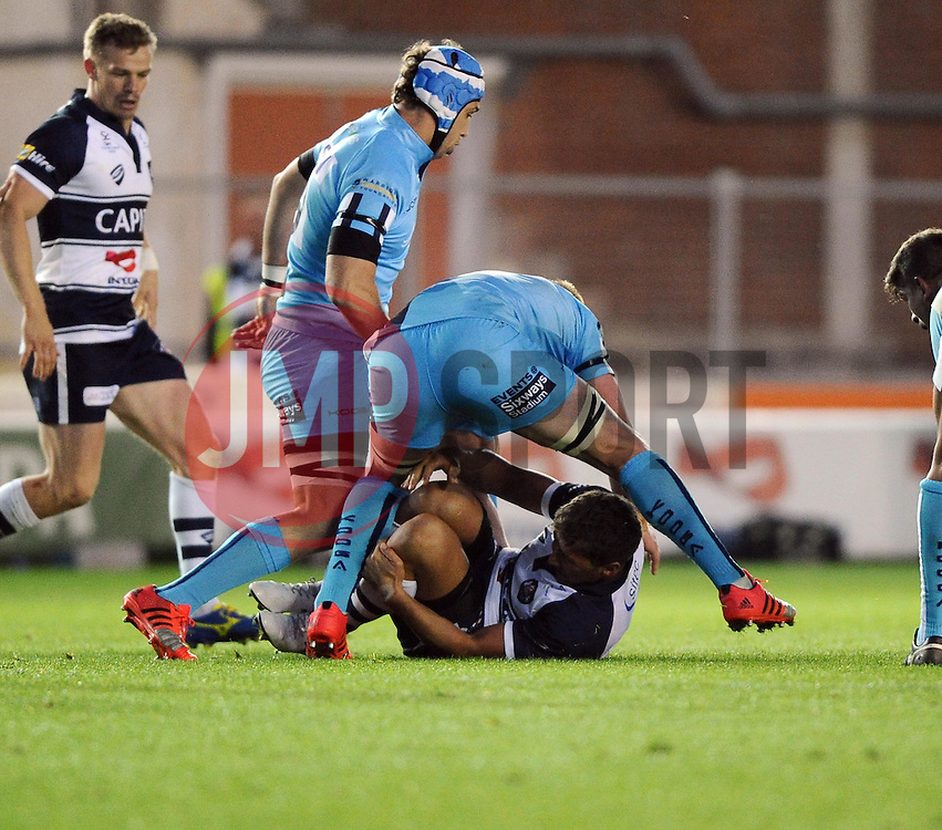 Bristol Inside Centre Gavin Henson is injured  - Photo mandatory by-line: Joe Meredith/JMP - Mobile: 07966 386802 - 20/05/2015 - SPORT - Rugby - Bristol - Ashton Gate - Bristol Rugby v Worcester Warriors - Greene King IPA Championship - Play-Off Final