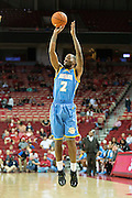 FAYETTEVILLE, AR - NOVEMBER 13:  Adrian Rodgers #2 of the Southern University Jaguars shoots a jump shot during a game against the Arkansas Razorbacks at Bud Walton Arena on November 13, 2015 in Fayetteville, Arkansas.  The Razorbacks defeated the Jaguars 86-68.  (Photo by Wesley Hitt/Getty Images) *** Local Caption *** Adrian Rodgers