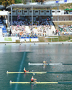 Bled, SLOVENIA. . Semi Final A/B.  Women's single Sculls, CHN W1X, BLR W1X and SWE W1X. 2011 FISA World Rowing Championships, Lake Bled. Saturday  03/09/2011  [Mandatory Credit;  Intersport Images]